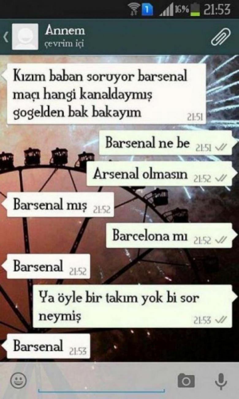 Annelerin Attığı Komik Whatsapp Mesajları - 1