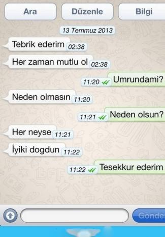 Birbirinden Komik Whatsapp Mesajları - 1