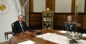 Cumhurbaşkanı Erdoğan, Orgeneral Hulusi Akar'ı Kabul Etti