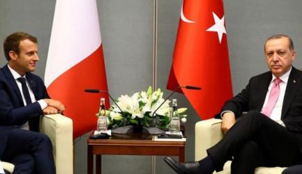 Reis-i Cumhur Erdoğan Macron İle Görüştü!