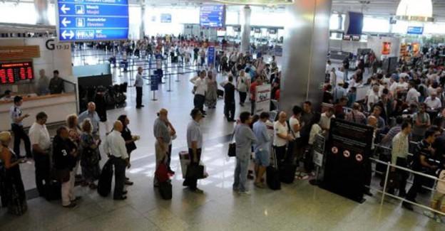 Atatürk Havalimanı'nda polnet çilesi