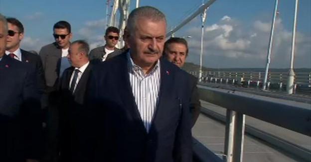 Başbakan 3. köprüde incelemelerde bulundu