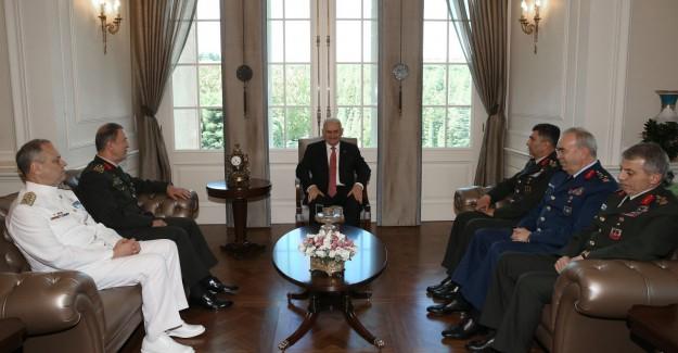 Başbakan Yıldırım İlk Kez Komutanları Kabul etti