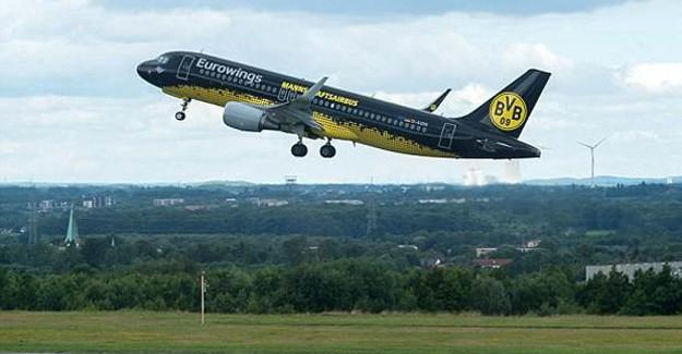 Borussia Dortmund'u Taşıyan Uçak Düşme Tehlikesi Atlattı!