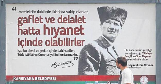 CHP'li belediye rezil oldu: Atatürk'ü şeriatçı yaptı!