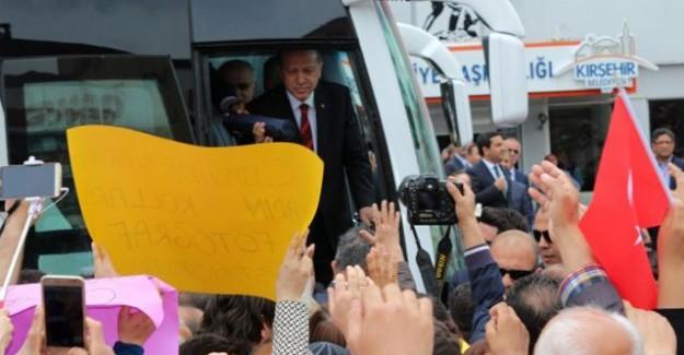 Cumhurbaşkanı Erdoğan'a Kırşehir'de Sevgi Seli