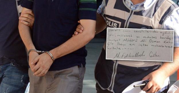 Eski emniyet müdürünün Evinden Gülen'in Yazdığı Bu Not Çıktı