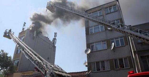 Fatih'te korkutan yangın: 2 yaralı