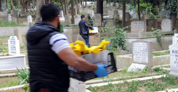 Feriköy Mezarlığı'nda molotof kokteyli ele geçirildi