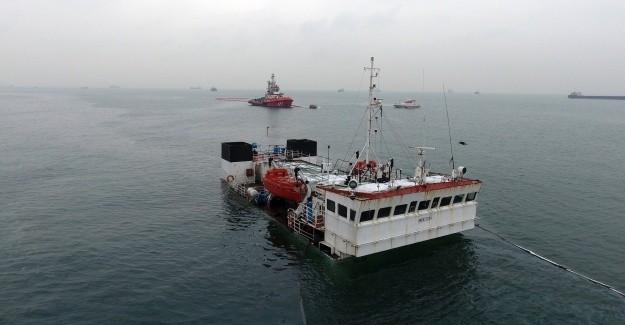 İstanbul Zeytinburnu'nda Gemi Battı