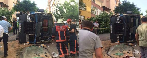 İstanbul'da yolcu otobüsü devrildi! Çok sayıda yaralı var!