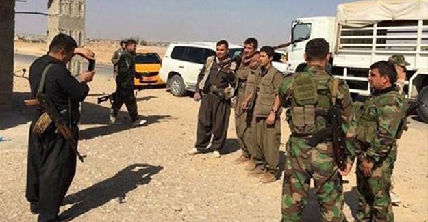 Kerkük'teki PKK'lılar Böyle Poz Verdi