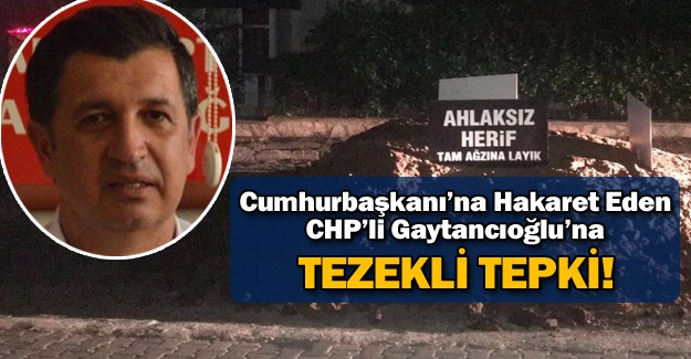 Okan Gaytancıoğlu'na 'Tezek'li Tepki!