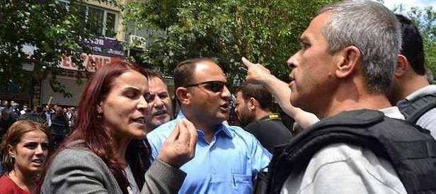 Polis terör sloganları atan HDP'lilere ayar verdi