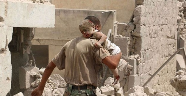 Rejim Ordusundan Halep'e Varil Bombalı Saldırı