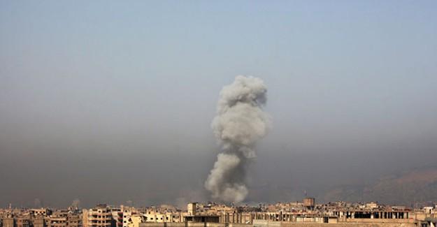 Rejim Uçakları Şam'ı Bombalıyor