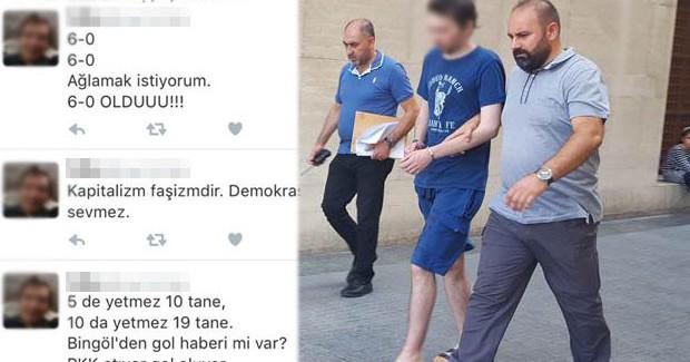 Şehitlerle Dalga Geçip 'PKK Şov Yapıyor' Yazan Kişi Tutuklandı