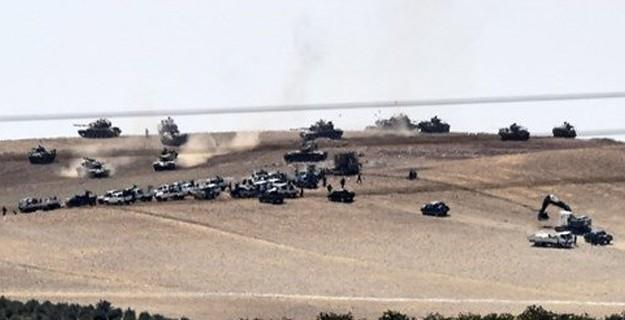 Tanklar ve İş Makineleri Yine Suriye'ye Geçti