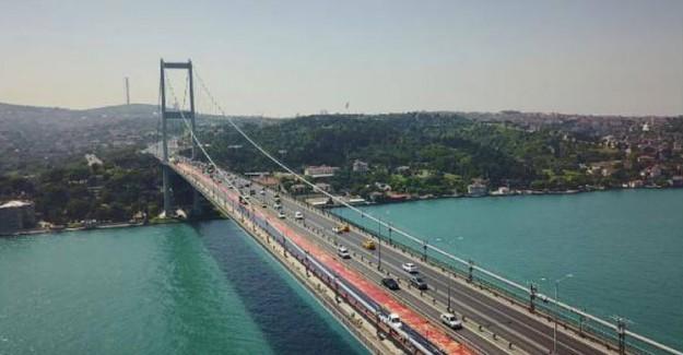 15 Temmuz Köprüsüne İlk Asfalt Döküldü!