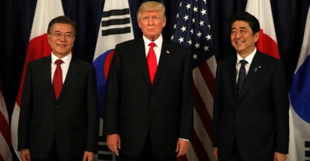 ABD, Japonya ve Güney Kore'den Kuzey Kore Çıkışı !