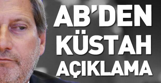 AB'den Küstah Talep! Türkiye İle Müzakereleri Bitirelim