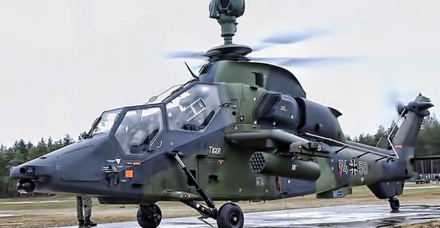 Alman Helikopteri Düştü