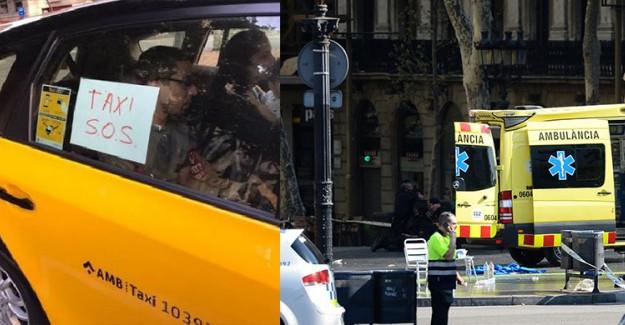 Barcelona'daki Saldırıda Taksiler Seferber Oldu!