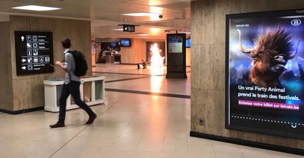 Brüksel'de Tren İstasyonunda Patlama