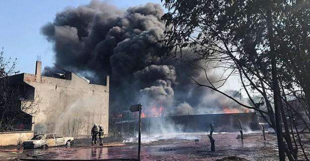 Bursa'da Korkutan Yangın! Söndürülemiyor