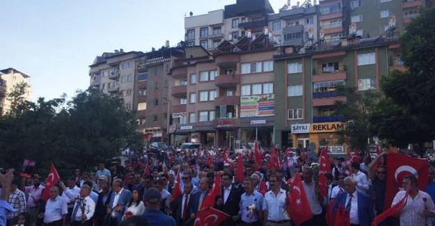 CHP Tunceli'de Necmettin Öğretmen ve Şehitler İçin Yürüdü