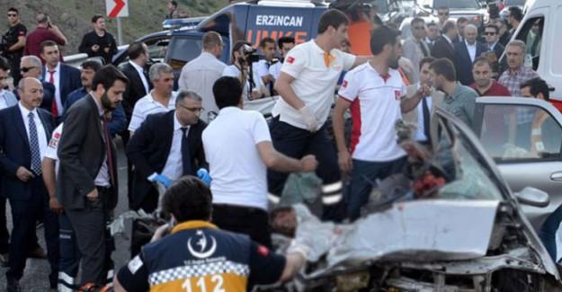 Erzincan'da Feci Kaza! Başbakan'da Ordaydı