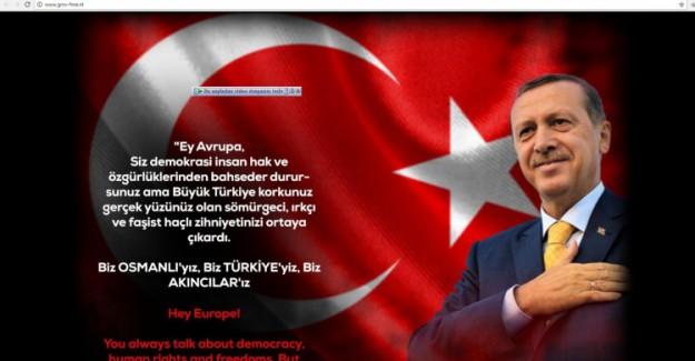 Hollanda Şokta! Erdoğan Fotoğrafı Koydular Anında Hacklendiler!