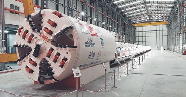 İlk Milli Tünel Açma Makinesi Çalıştırıldı