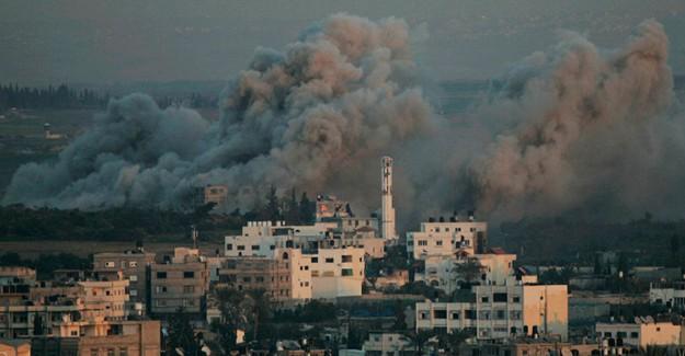 İsrail Gazze'ye Hava Saldırısında Bulundu!
