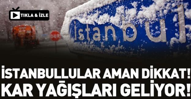 İstanbul'a İlk Kar O Tarihte Düşecek!