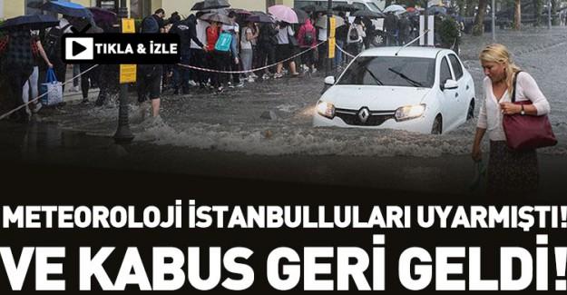 İstanbullular Aman Dikkat! Dün Uyarı Gelmişti!
