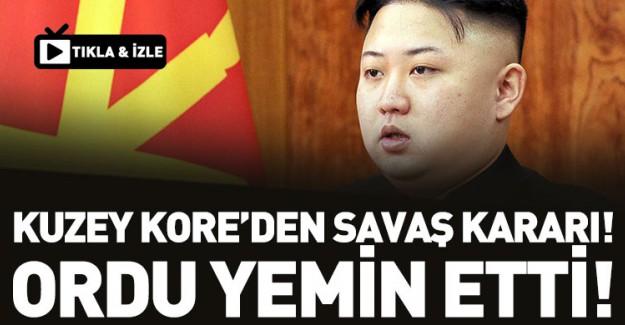Kuzey Kore'den Savaş Kararı! Ordu Yemin Etti