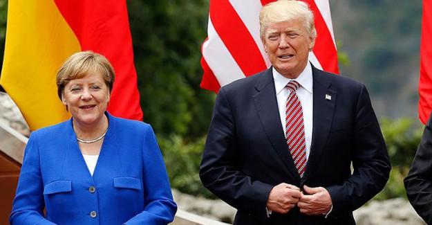 Merkel Trump'ı Kabul Etti