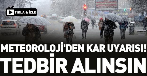 Meteoroloji Uyardı, Kış Çetin Geçecek