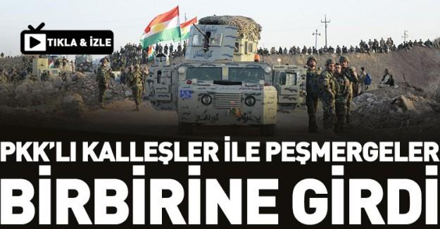 PKK'lı Teröristler İle Peşmerge Birbirine Girdi!