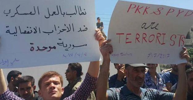 ''PYD Kandil'den Gelen Köpeklerini Al ve Çekil'' Suriyelilerin PYD Öfkesi!