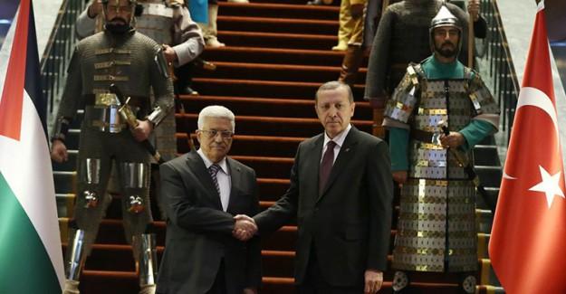 Reis-i Cumhur Erdoğan Abbas'ı Törenle Karşıladı!