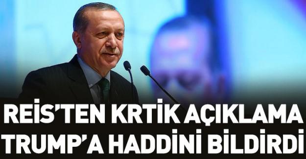 Reis-i Cumhur Erdoğan'dan Kudüs Çıkışı!