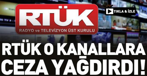 RTÜK'ten Televizyon Kanallarına Ceza Yağdı