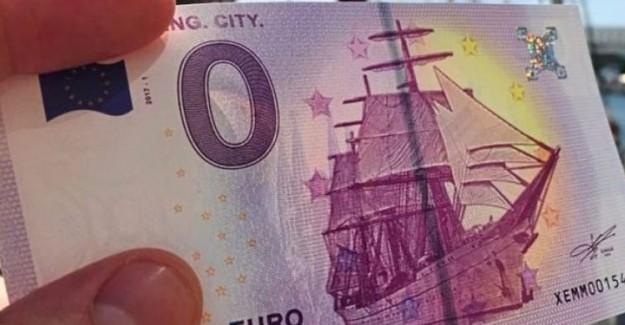 Sıfır Euro'luk Banknot Basıldı!
