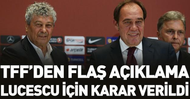 TFF'den Flaş Lucescu Kararı!