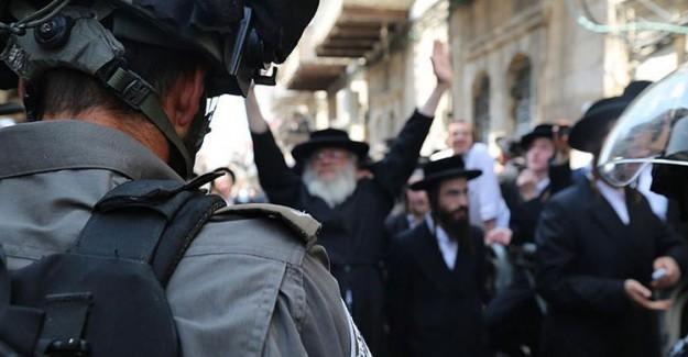 Yahudiler Polisle Çatıştı