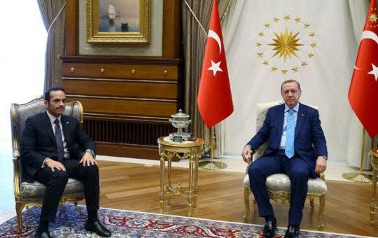Cumhurbaşkanı Erdoğan Katar Dışişleri Bakanı'nı Kabul Etti