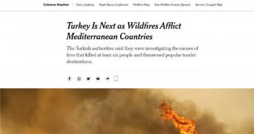Dünya Basınının Gündeminde Türkiye Yangınları Var!