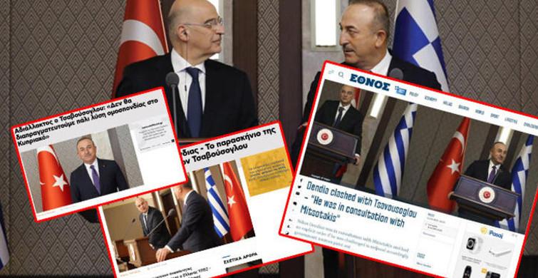 Dışişleri Bakanı Mevlüt Çavuşoğlu ve Yunan Mevkidaşı Nikos Dendias'ı Manşetten Verdiler!